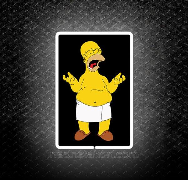 Homer Simpson Complaining 3D Neon Sign