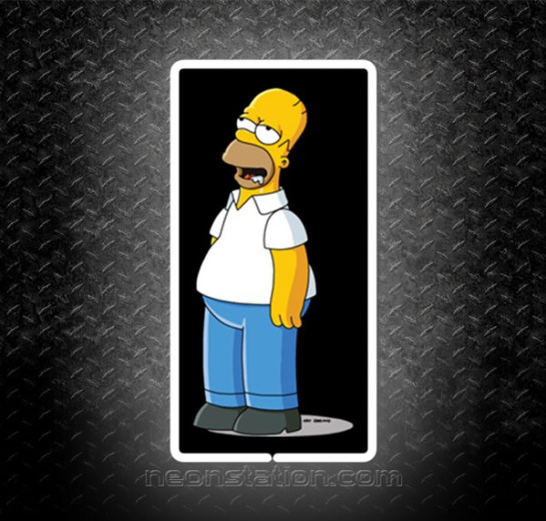 Homer Simpson Day Dreaming 3D Neon Sign
