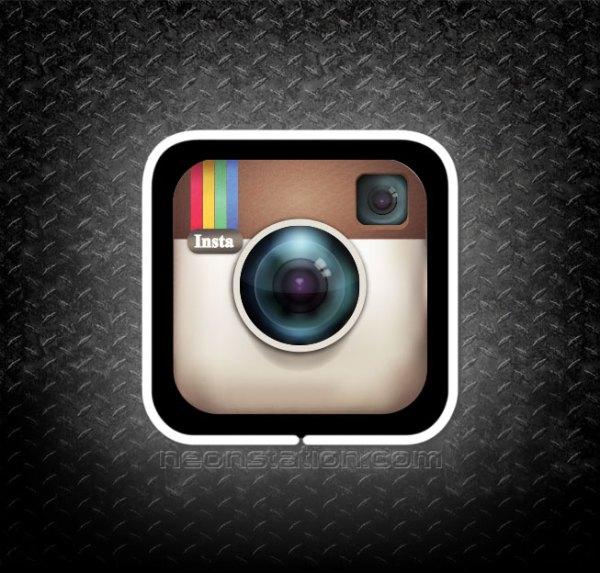 Instagram 3D Neon Sign
