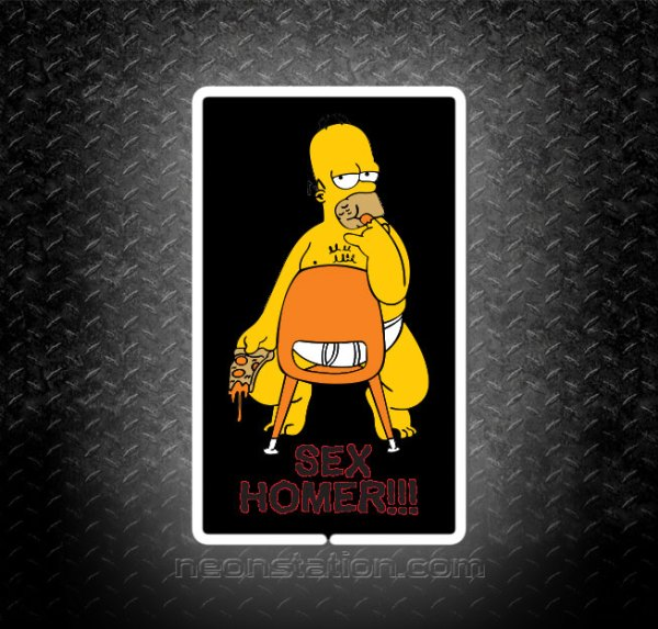 Sexy Homer Simpson 3D Neon Sign