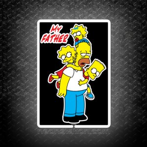 The Father And Family Homer Simpson 3D Neon Sign
