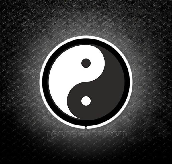 Yin Yang 3D Neon Sign