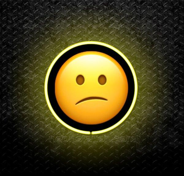 Confused Face Emoji 3D Neon Sign