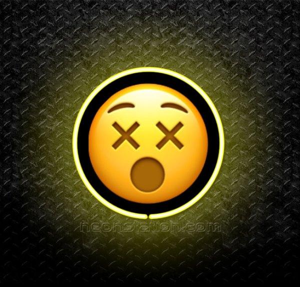 Dizzy Face Emoji 3D Neon Sign