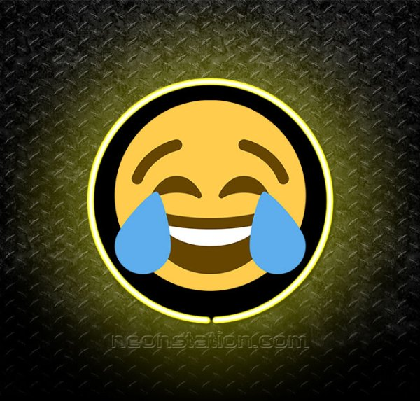 Laughing Face Emoji 3D Neon Sign