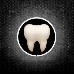 Tooth Emoji 3D Neon Sign