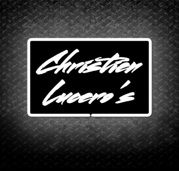 Christien Lucero's 3D Neon Sign