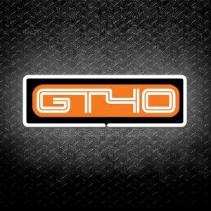 Ford GT40 3D Neon Sign Orange