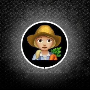 Woman Farmer With Blonde Hair Emoji 3D Neon Sign