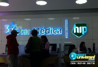 Letreros y logotipos 3D luminosos