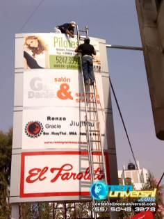 Producción e instalación de publicidad