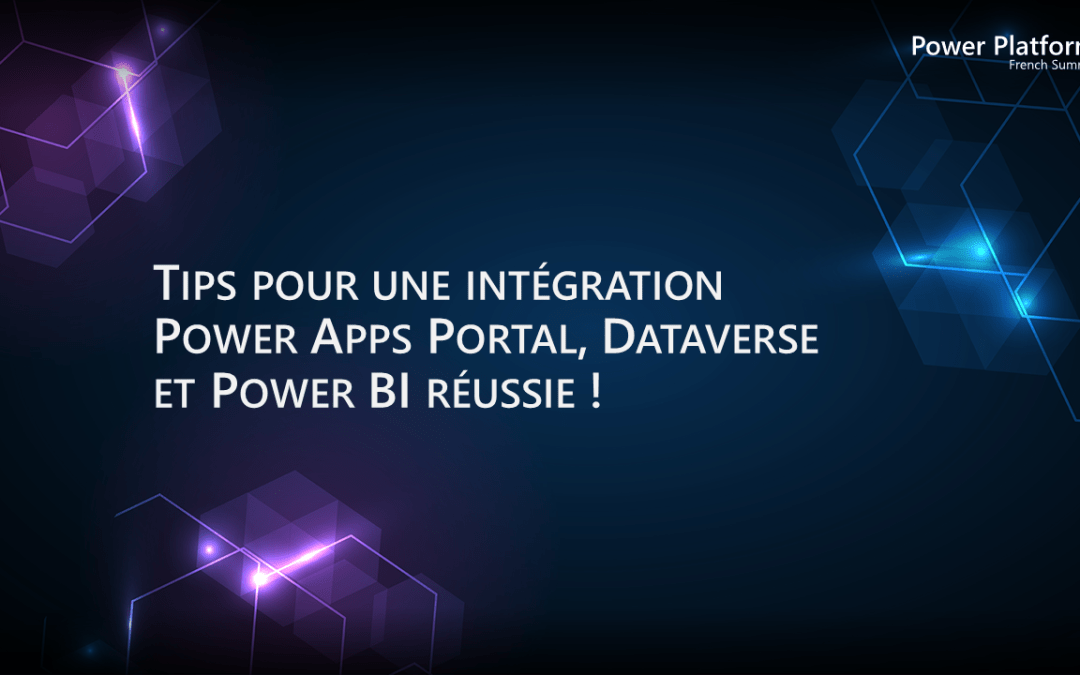 ▶ Intégrer Power Apps Portal, Dataverse et Power BI !