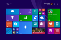 You can turn the start screen on from the start menu options, giving you this instead of the start menu. Don't do it.