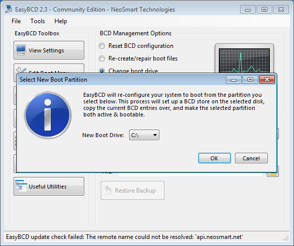 Changing the Boot Partition