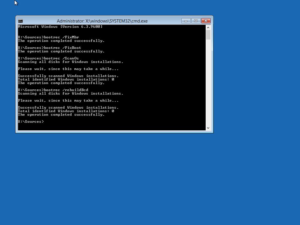 Startup Repair Just Hangs At Startup In Windows 7