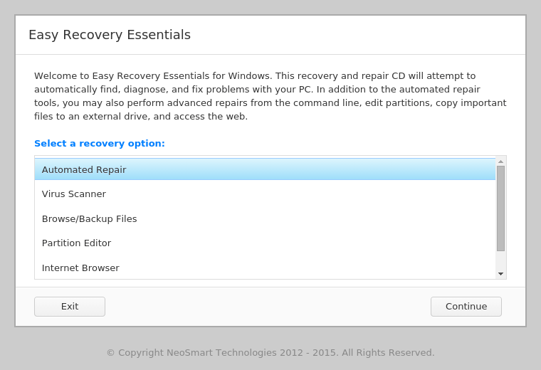 easy recovery essentials pro - windows 7 boot iso