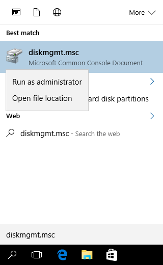 Win10 diskmgmt