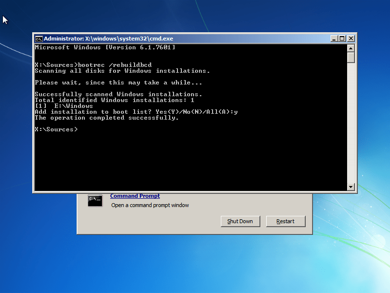 Operating System not found or missing: Fix for Windows XP