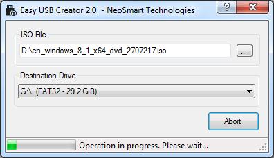 Easy USB Creator 2.0 screenshot