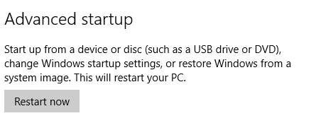 Windows 10 Advanced Startup