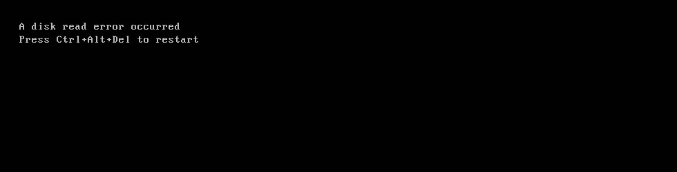 A disk read error occurred - Screenshot
