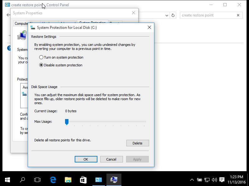 No System Restore points: Fix for Windows XP, Vista, 7, 8, 10