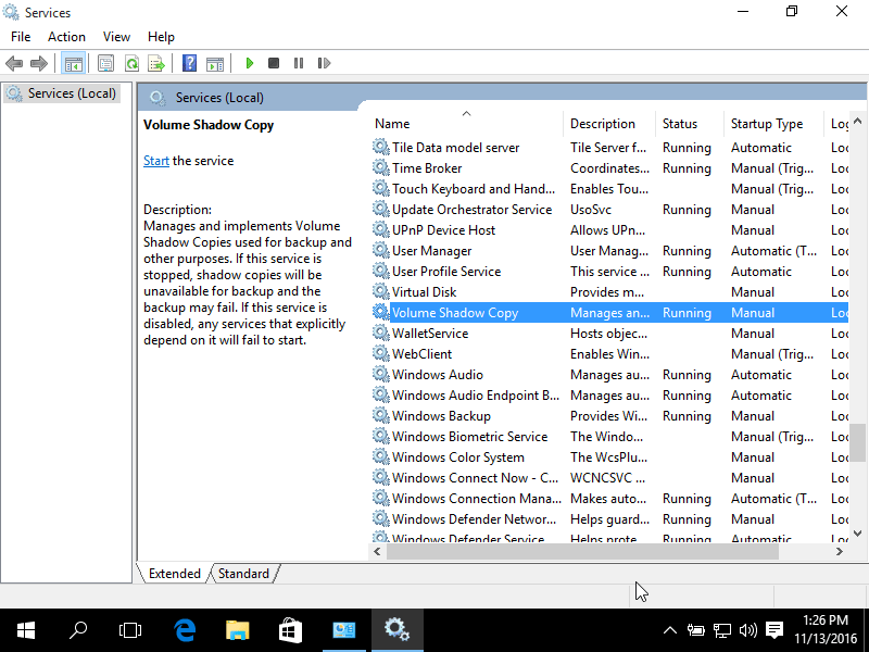 how to reset system services in windows 7