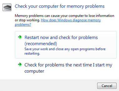 Windows Memory Diagnostic screen