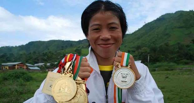 Mary Kom with her medals.