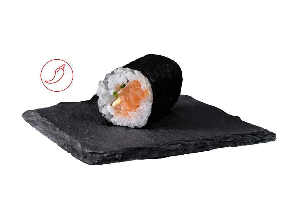 maki tartare saumon sauce epice