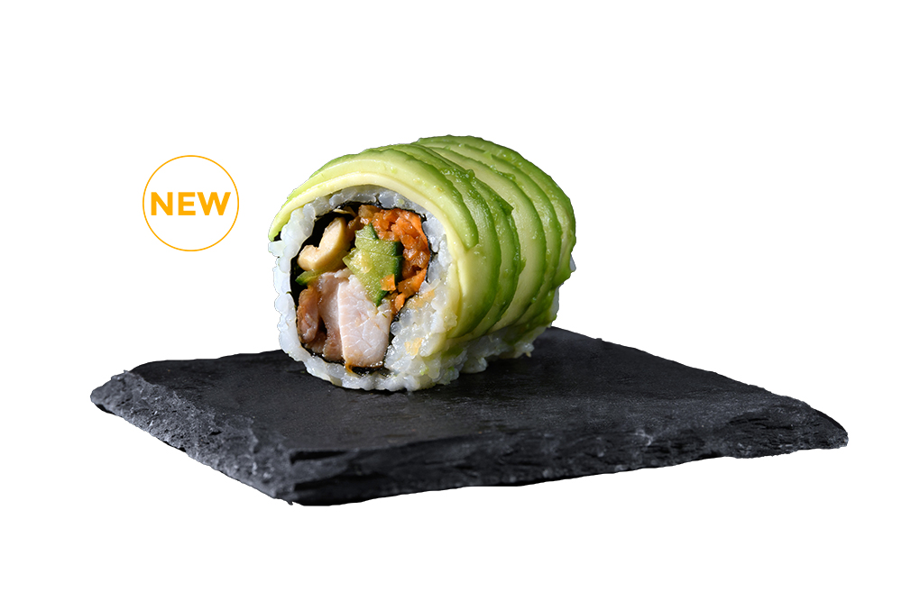 avocado poulet caramelise