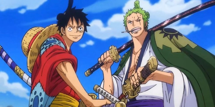 One Piece Quotes Luffy and Zoro, the two heads of the Strawhat Pirates