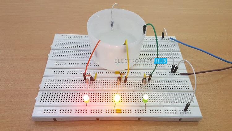 Circuit Diagram Of Water Level Indicator | Simple Water Level Indicator With Alarm Tested Circuits Neotech