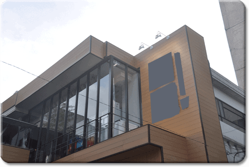 Revestimiento para fachadas en madera sin mantenimiento - Losetas de madera ...