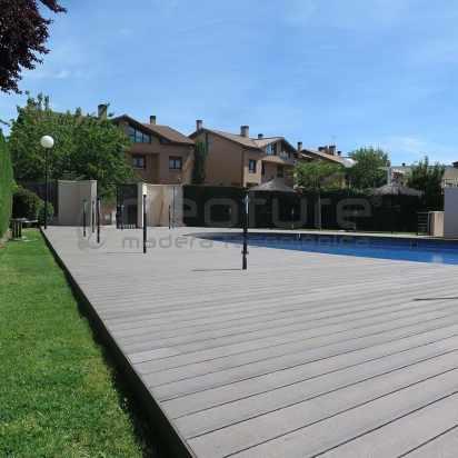 Suelo de composite para piscina Neoture