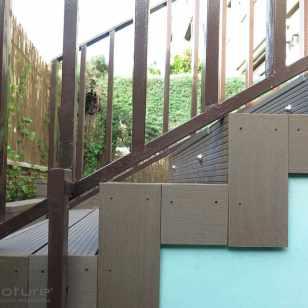 tarima composite escaleras y peldaños