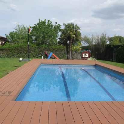 tarima madera sintética piscina color wood