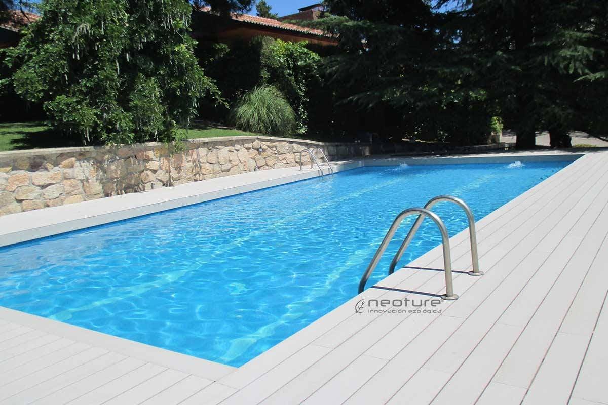 tarima para piscinas trendy tarima exterior para piscina
