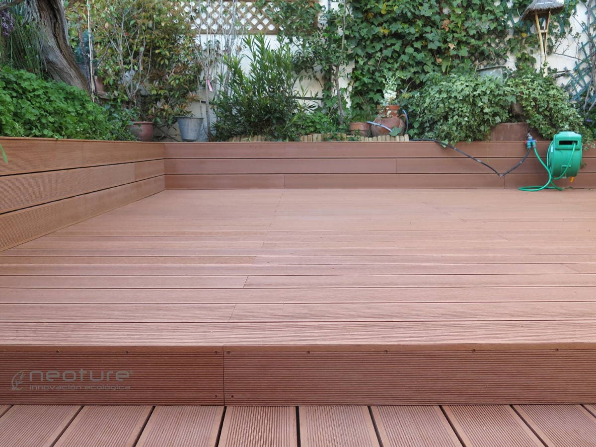 tarima tecnologica terraza color wood