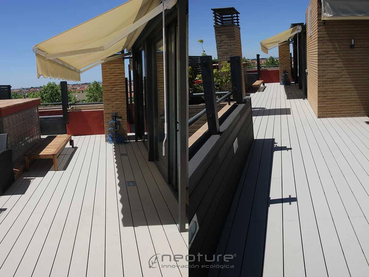 Tarima flotante para exterior for Terraza madera exterior