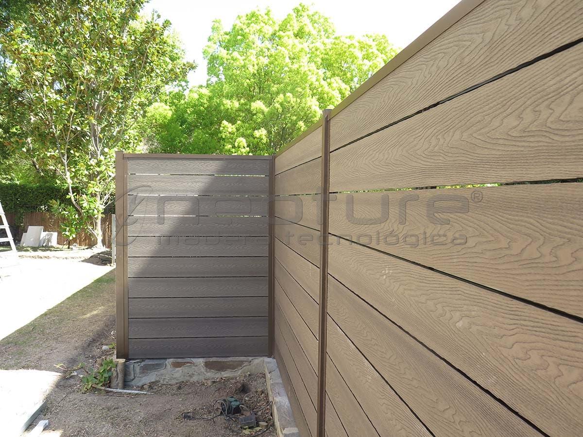 Vallado de jardín de madera de composite