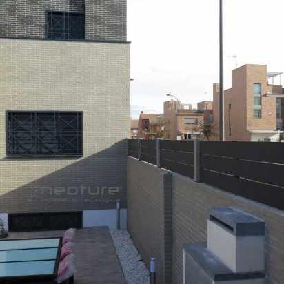 cerramiento exterior terraza madera sintetica