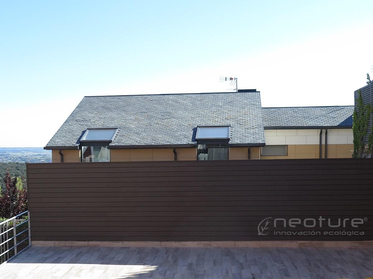 Revestimiento pared exterior con paneles madera sintetica - Revestir pared exterior ...