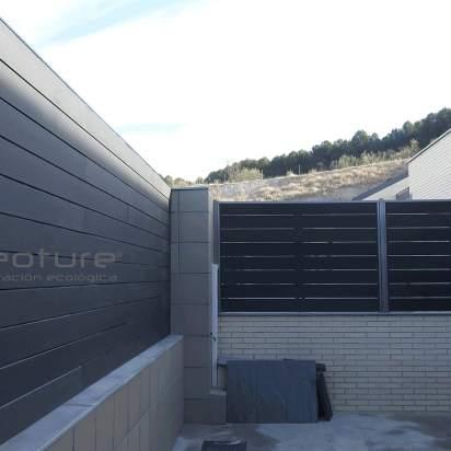 Vallado exterior en madera composite grey