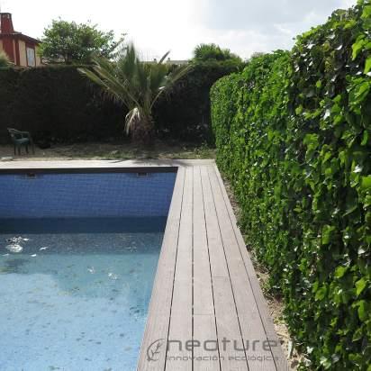 tarima exterior para piscina