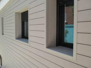 Revestimiento paredes de madera exterior tecnológica