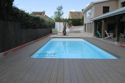 tarima madera piscina