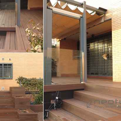 tarima sintetica terraza entrada chalet encapsulada