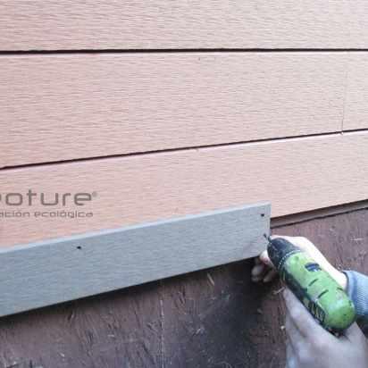 Colocacion tapa terminacion revestimiento madera sintetica