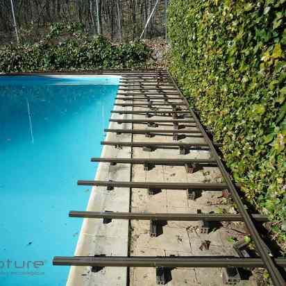 rastrel composite montaje tarima piscina